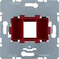 Опорна пластина для модульних роз'ємів з червоною вставкою, 1-кратна  (454001)
