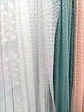 """Тюль гипюровая """"Круги из цветов"""", цвет бирюзовый, фото 2"""