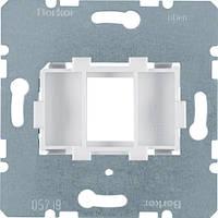 Опорна пластина для модульних роз'ємів з білою вставкою, 1-кратна  (454002)