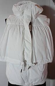 Женская жилетка(белая, черная, синяя)