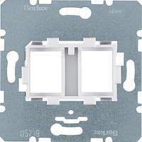Опорна пластина для модульних роз'ємів з білою вставкою, 2-кратна  (454105)