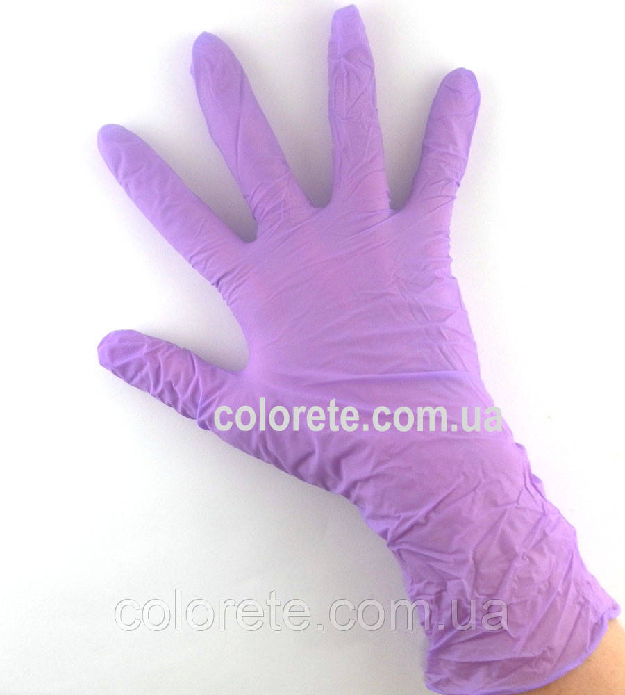 Перчатки нитриловые неопудренные фиолетовые M (10 шт./5 пар)