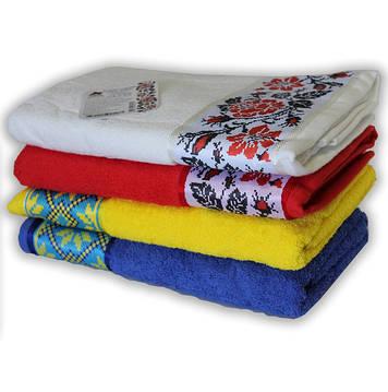 Весенняя скидка на полотенца махровые Магия комфорта с украинским орнаментом