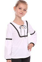 Стильная трикотажная блуза для девочки VidOli (р.128)