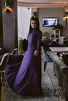Платье в пол максис открытой спинкой фиолет фиолетовое Широкая цветовая палитра