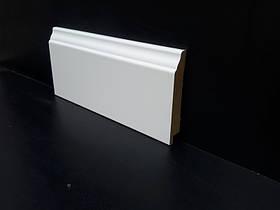 Плинтус МДФ высокий белый 16*95*2800 мм.