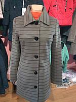 Пальто кашемировое в полоску