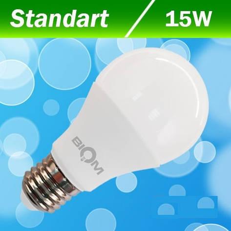 Светодиодная лампа Biom А60 15W E27 3000К, фото 2