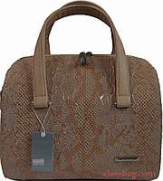 Женская сумка из бежевого крокодила, фото 1