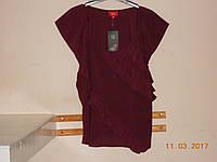 Фиолетовая блузка с косыми оборками