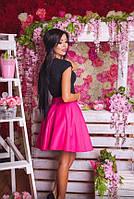 Шикарная юбка из трикотажа с фатиновым подьюбником