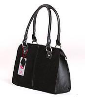 Классическая сумочка из натуральной замши