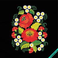 Аппликация, наклейка на ткань Цветы [7 размеров в ассортименте]