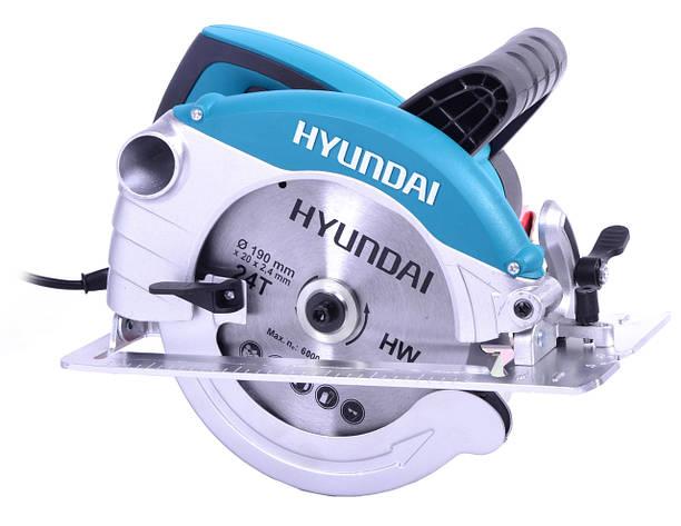 Ручная дисковая пила hyundai C 1500-190, фото 2