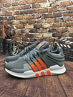 Кроссовки мужские Adidas EQT ADV Support Grey Orange. кроссовки адидас супорт, обувь каталог