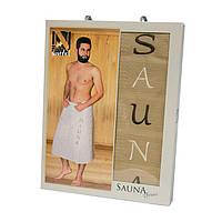 Полотенце для сауны вафельное Nilteks Sauna Cotton 1*75х150, 4060_nilteks_sauna_men_be