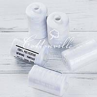 Нитки швейные 40s/2 прочные (1000Y) белые
