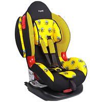 """Детское автомобильное кресло Siger ART """"Кокон ISOFIX"""" пчелка, 1-7 лет, 9-25 кг, группа 1/2"""