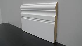 Плинтус МДФ напольный высокий фигурный белый  16*145*2800 мм