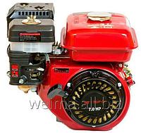 Бензиновый двигатель Weima ВТ170F-S2P  (шпонка, вал 20мм, шкив на 2 ручья 76 мм), бенз 7.0 л.с. для мотоблоков