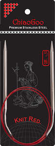 Спицы   круговые 8.0 -80 см.Knit Red ChiaoGoo