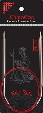 Спицы   круговые 2.0-80 см.Knit Red ChiaoGoo