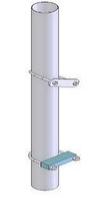 Труба оцинкована, електрозварна d 76,1х1,5 мм, довж. 1 м без хомутів