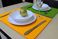 Подставка Фетр Lux Orange на стол/декор 45*30 см