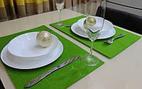 Подставка Фетр Lux Green на стол/декор  45*30 см