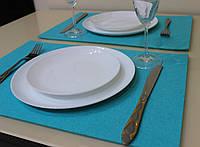 Подставка Фетр Lux Blue на стол/декор  45*30 см