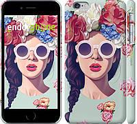 """Чехол на iPhone 6 Plus Девушка с цветами """"2812m-48-ap47"""""""