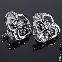 Женские серебряные Серьги Алания