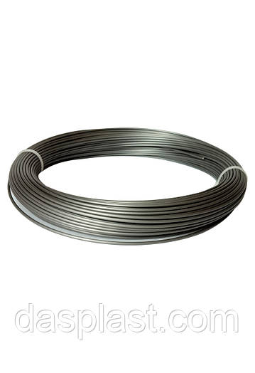 АБС пластик серый металлик 1,75 мм для 3д ручки, 100 грамм, 41 м.