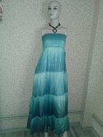 Сарафан, платье  женское голубое