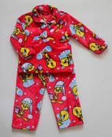 """Детская махровая пижама """"Твитти"""", рост 92/100 см"""
