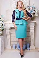 Красивое платье с баской Наргиз