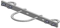 Кронштейн крепления опуска кормораздачи к типу 42 шаг 125 мм в комплекте
