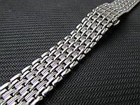 Браслет для часов стальной, литой, глянец. 20 мм, фото 1
