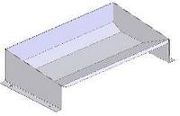 Годівниця для кнура із нерж. сталі підлогова або настінна, індивідуальна (ширина може оговорюватися при замовл
