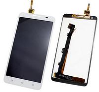 Дисплей (экран) для Huawei G750 Ascend Honor 3X + с сенсором (тачскрином) белый