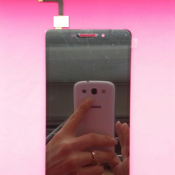 Дисплей для Lenovo Vibe P1m черный, с сенсорным экраном