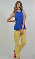 Легкая блузка-майка цвет электрик 7515 MEES Турция