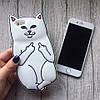 Силиконовый чехол кот с факами для iPhone 6/6s, фото 2