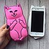 Силиконовый чехол кот с факами для iPhone 6/6s, фото 4