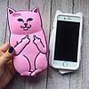 Силиконовый чехол кот с факами для iPhone 6/6s, фото 5