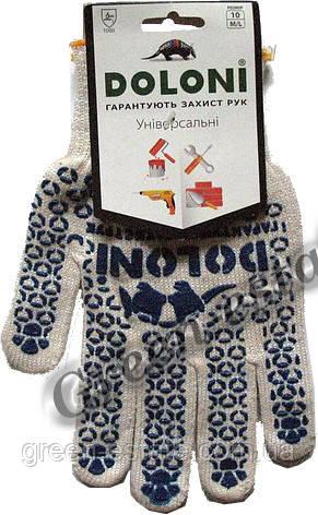Перчатки рабочие Doloni белые арт.520
