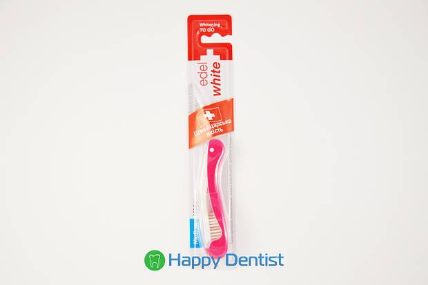 EDEL+WHITE дорожная отбеливающая зубная щетка средней жесткости