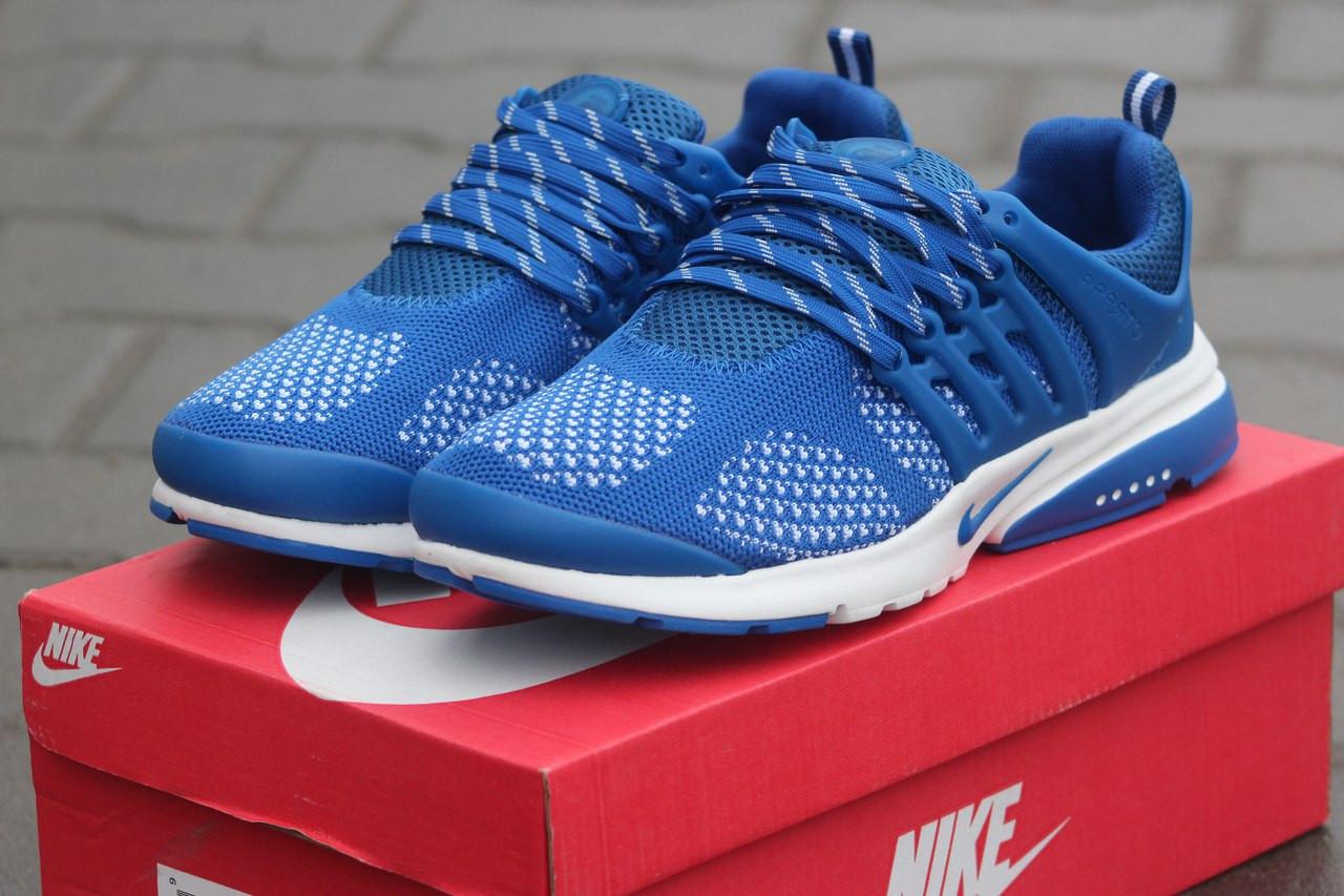 Мужские кроссовки Nike air presto,текстиль,сетка светло синие 41р