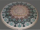 Круглый иранский ковер с мелким классическим рисунком, фото 3