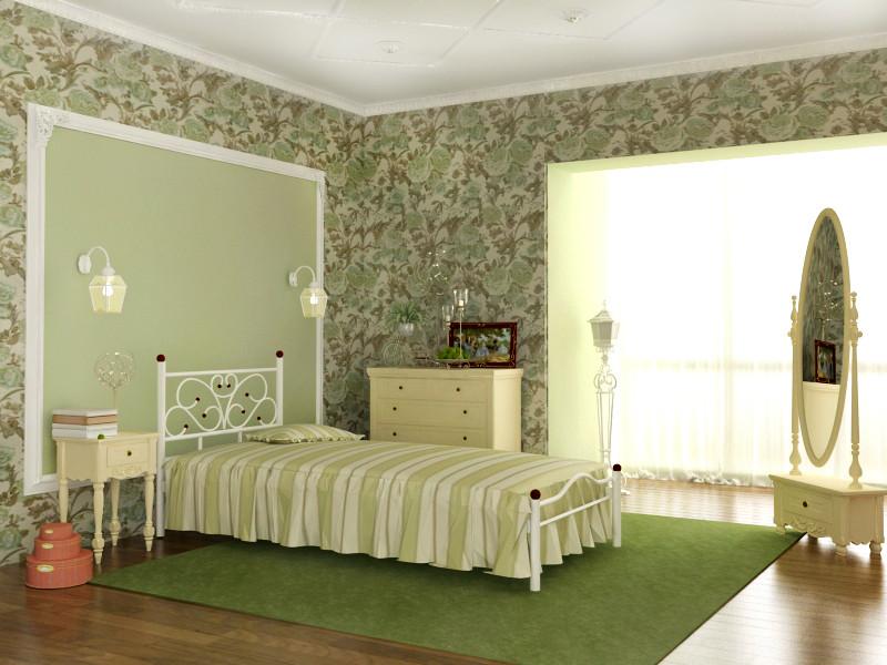 Металлическая кровать Эрика ТМ Скамья